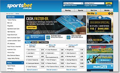 Sportsbet bookmakers