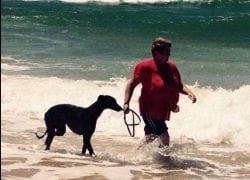 Jesaulenko at the beach